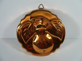 """Vintage Copper Tin Mold Classic Pear 5"""" Wall Hanging Country Kitchen Too... - $14.85"""