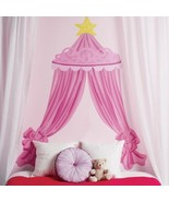 Pink Princess Canopy Headboard Vinyl Wall Decals Curtains Girls Bedroom ... - $61.28