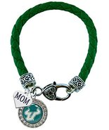 Holly Road South Florida Bulls Green Leather Bracelet with MOM Charm Jew... - $16.82