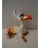 "Disney The Lion King ZAZU Plush Bird 9"", White, From Lion King MINT - $9.89"