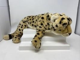 FAO Schwarz Cheetah Leopard Plush Stuffed Toy Doll Realistic Zoo Classro... - $39.59