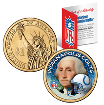 INDIANAPOLIS COLTS Colorized Presidential $1 Dollar Coin Football NFL LI... - $9.85