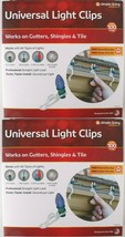 2x 100ct Simple Living Innovations Universal Christmas Light Gutter Clips NEW image 1