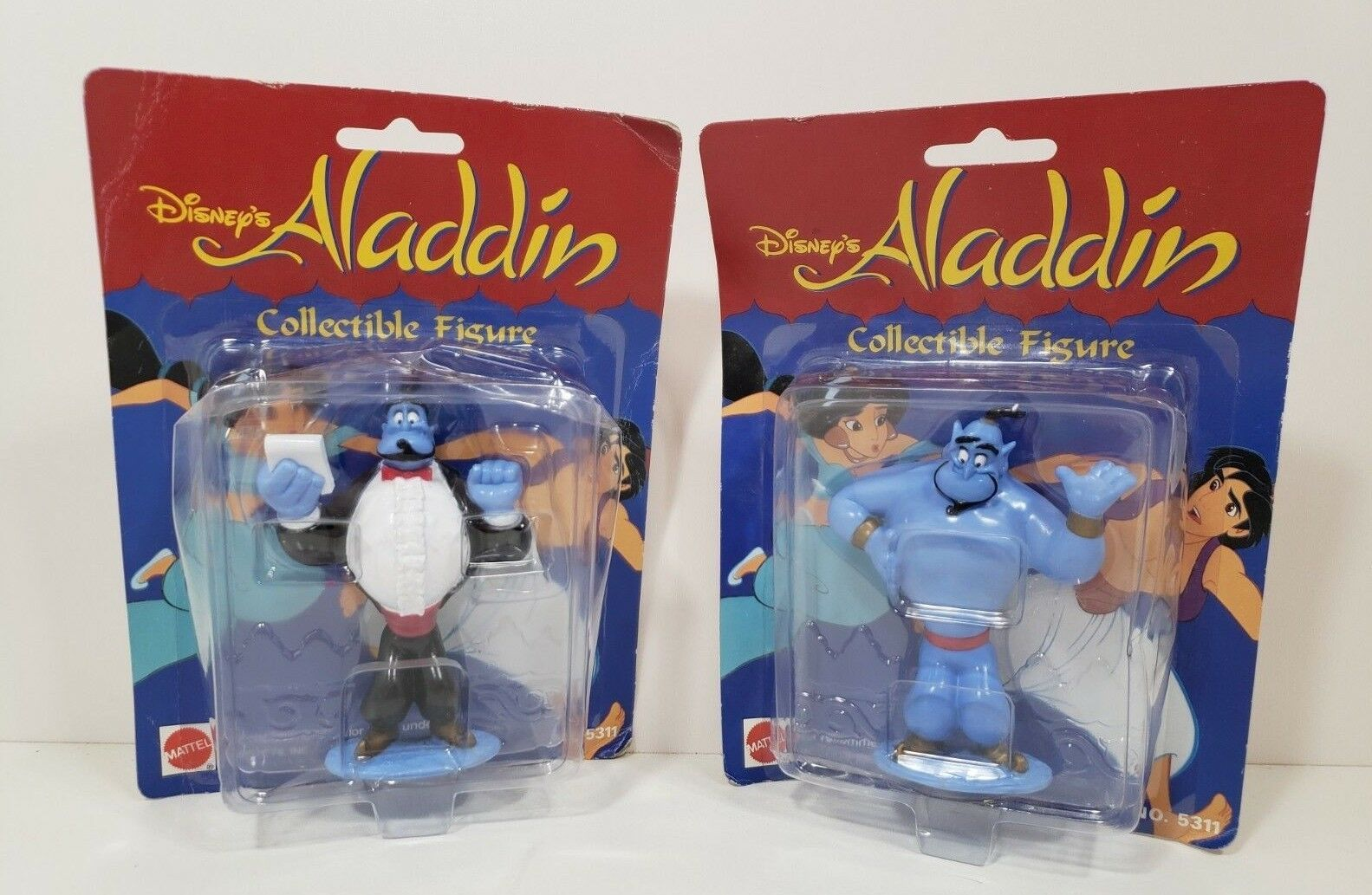 Set of 2 Mattel Disney's Alladdin Collectible figure - Genie