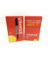 (24 Pack) Pen Style Permanent Markers, Fine Point, Black, 2 Dozen UNV07071 - $11.30