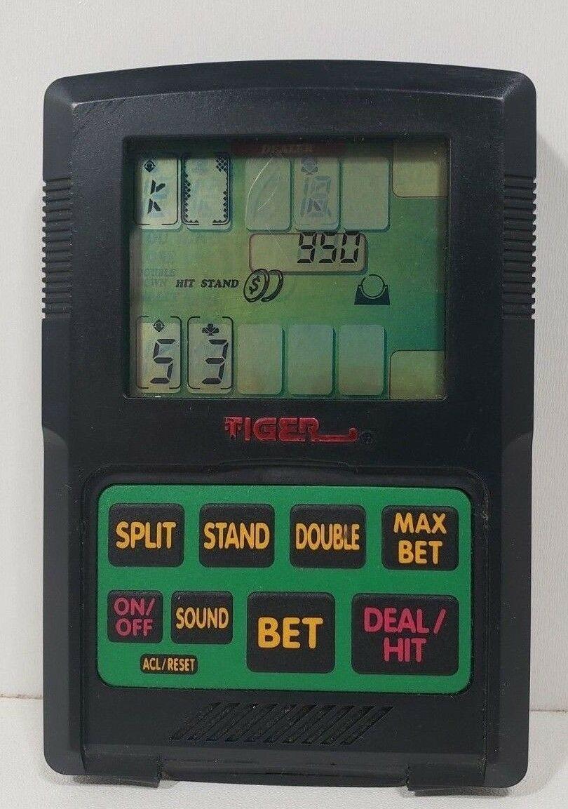 Tiger Handheld Electronic Blackjack Game.. 1993