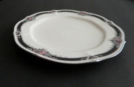 Noritake Ivory China Platinum trim Afton Pattern 1 Salad / Luncheon Plate - $8.86