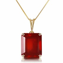 14 Karat Gold Octagon Natural Ruby Pendant - $801.55