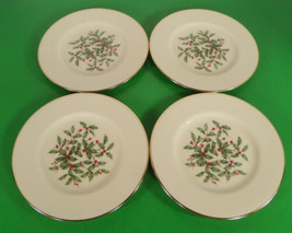 Lenox PRESIDENTIAL SPECIAL Bread Plate (s) LOT OF 4 Holiday Large Decal - $29.65