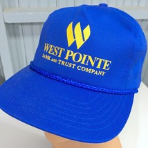 West Pointe Bank Trust Snapback Baseball Cap Hat Oshkosh Wisconsin - $17.43