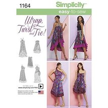 Simplicity Patterns US1164 / S0766 Misses' Double Layer Wrap Skirt, A (X... - $14.21