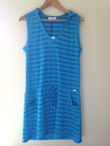 NWT Calvin Klein Designer Bue Crochet Knit Hooded Swim Cover Up Dress S/... - $48.00