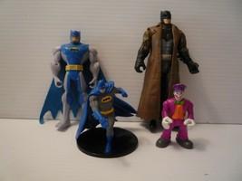 Vintage D.C. Comics 3 Batman Action Figures & 1 Joker Figure Set of 4 - $9.89