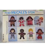 McCall's 5724 Set of International Dolls + Sleeping Bag Complete & Pressed - $4.15