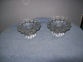 2 glass candlestick holders - $7.00