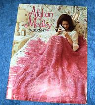 Bernat Afghan Medley Knit & Crochet Patterns Vintage - $8.00