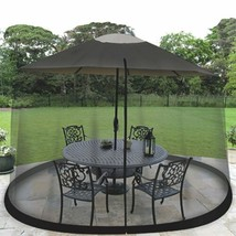 Umbrella Table Screen 7.5Ft  Bugs Insects Fly Protector Long Mesh Outdoo... - $34.29