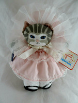 """Vintage Applause Dolly Cat by Dustyn Shear 1988  Blue Eyes Mint with Tag 8"""" - $16.82"""