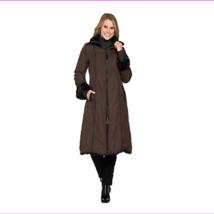 Dennis Basso Reversible Faux Fur Coat with Zip Off Hood, Size XXS, MSRP $249 - $155.10
