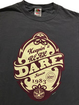 D.A.R.E Keepin' It Real Dare Drug-Free Grey T Shirt Sz. S - $12.77