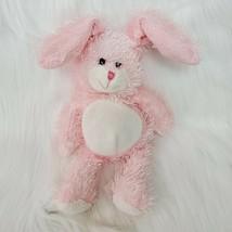 "14"" Plushland Easter Bunny Rabbit Pink Long Hair Plush Beanbag Stuffed T... - $14.97"