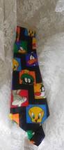 LOONEY TUNES Men's Necktie Vintage - Polyester - Bugs Bunny, Tweetie, Da... - $9.49
