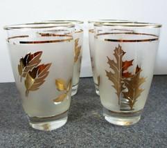 VINTAGE Libbey Gold Leaf Glasses st of Four - $25.23