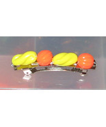 Oranges and Bananas Barrette - Yellow Orange Pl... - $3.75