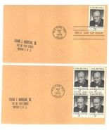 Winston Churchill first day covers May 13, 1965 single and block of 4 - ₹219.19 INR