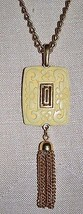 VTG Rare CROWN TRIFARI Cream Carved Celluloid Flower Oriental Pendant Ne... - $74.25
