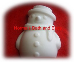 snow man christmas glycerin soap - $2.50
