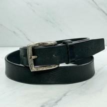 Liz Claiborne Black Vintage 1999 Genuine Leather Belt Size Medium M 32 - $24.18