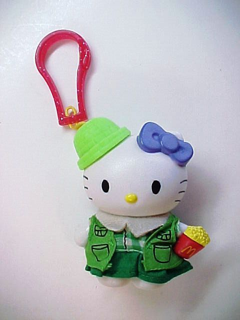 Primary image for 2000 Sanrio HELLO KITTY as Girl Scout Purse Luggage Backpack Bag Clip-On