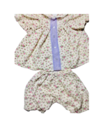 Vintage Cabbage Patch Kid Doll Clothes Outfit Dress White Floral Purple Button - $9.90