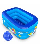"Inflatable Kiddie Pool, 50"" Baby Pool with Inflatable Soft Floor, Inflat... - $46.99"