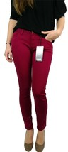 NEW KENSIE JEANS WOMEN PREMIUM NARROW SKINNY SLIM FIT ANKLE BITER PANTS MAGENTA