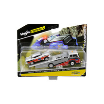 1957 Chevrolet Bel Air Gasser #786 Silver and Red with Ramp Tow Truck El... - $22.10