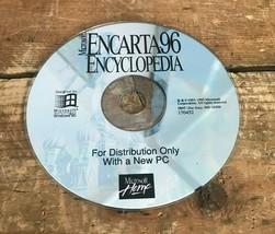 Vtg 90s Microsoft Encarta 96 Encyclopedia CD-Rom for Microsoft Windows 95 Disc - $8.31