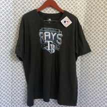MLB Tampa Bay Rays gray baseball tee 3x - $26.73