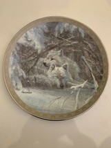 Wolf Wildlife Collector Plate - WINTER LULLABY - Peace on Earth Collection - $9.89