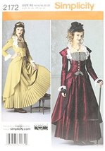 Simplicity Sewing Pattern 2172: Misses' Costume, Size R5 (14-16-18-20-22) - $13.48