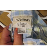 Womens Blouse 18/20W Essentials by Maggie Blue/Green/White Plaid TF129/ALS - $9.93