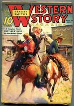 Western Story Magazine Pulp July 10 1937- Rustlers Dust FN - $69.36
