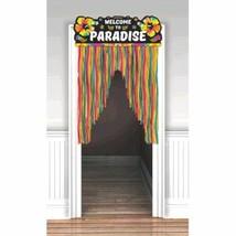 Neon Luau Doorway Curtain Decoration 38 x 54 inch - $11.79