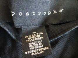 Stylish women's button down shirt Size 14 by Apostrophe MMARS266 - $12.62