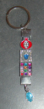 Judaica Keyring Key chain Metal Enamel Crystals Pomegranate Hoshen Hamsa Israel image 2