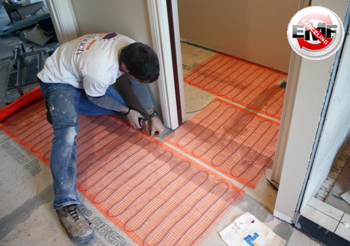 SunTouch Floor Heating Tape Mat Kits 2ft 120 sq - 2ft Wide