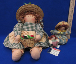 Vintage Country Prairie Doll Shelf Sitter Doll Door Stopper And Magnet L... - $15.83