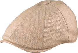 Henschel Wool Blend Duck Bill Driver Cap Satin Lined Closed Back Beige ... - $48.00
