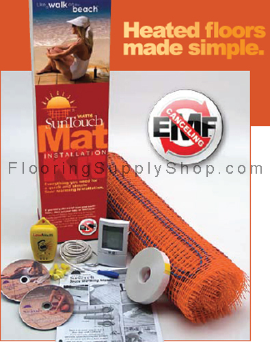 SunTouch Floor Heating Tape Mat Kits 35 sq - 2ft Wide